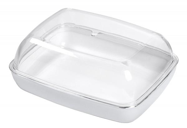 Butterdose Vienna 13,5x10x5,5cm transparent/weiß
