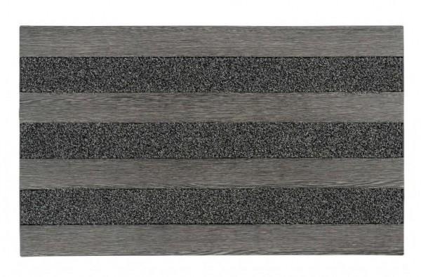 Bürstenfußmatte Woodland steel 46x76cm