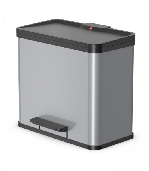 Tret-Abfalltrenner Öko Duo Plus L 17l 9l silber
