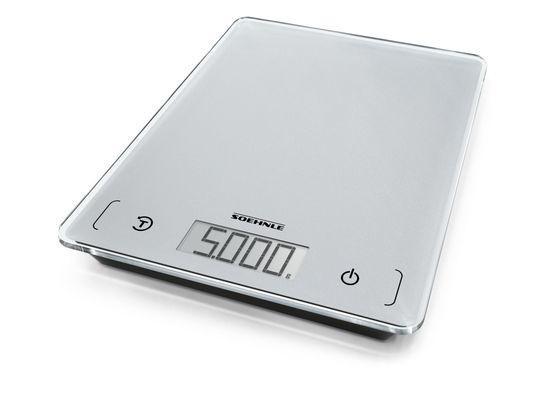 Küchenwaage Page Comfort 100 digital 5kg Tragkraft 21x16x1,8 cm silber