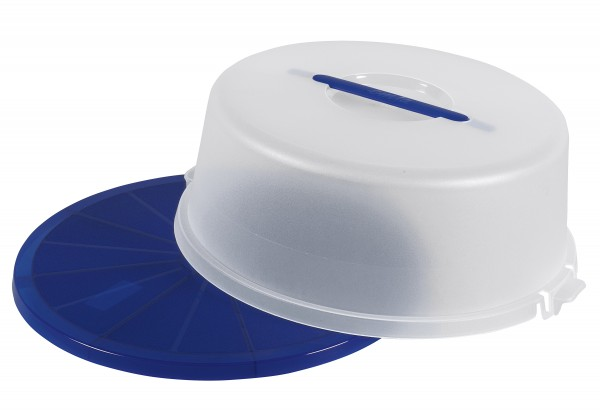 Tortenbutler Basic Ø33cm blau/transluzent
