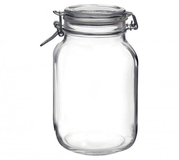 Drahtbügelglas Fido quadratisch 3040 ml mit Ring ø 90mm