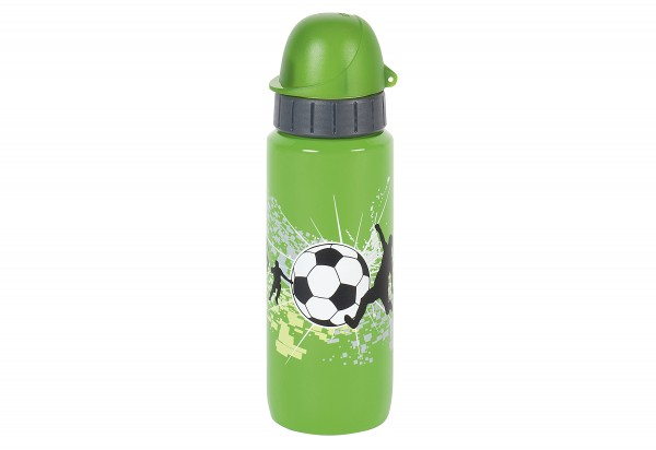 Trinkflasche Light Steel Kids Football 0,6l green