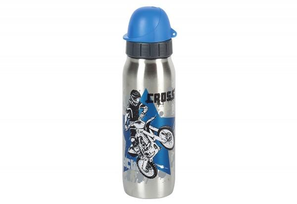 Trinkflasche Iso2Go Kids Motocross 0,5l silber