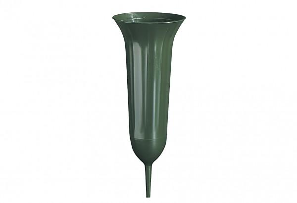 Grabvase Tulpe 31cm grün