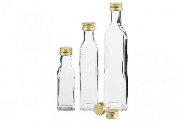 Schraubdeckel PP für Gradhalsflaschen Ø31,5mm gold