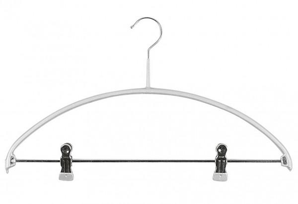 Kombi-Bügel Economic mit Steg Metall mit 2 Clipse 42cm silber