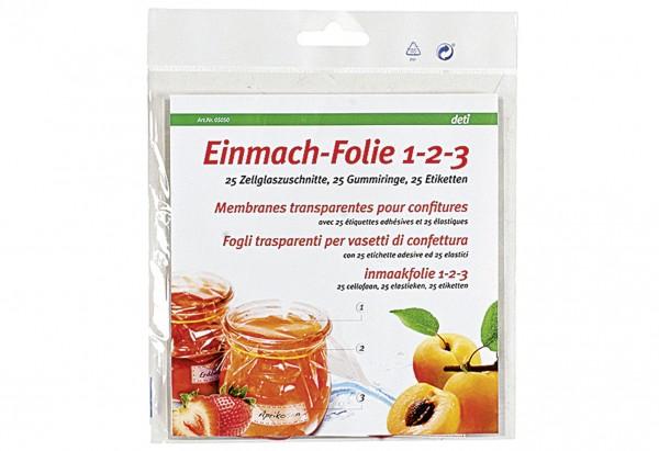 Einmach-Folie 1-2-3 25er Pack