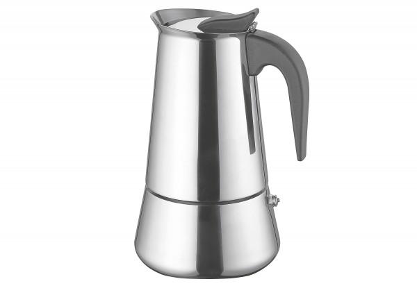 Espressokocher 10 Tassen Edelstahl