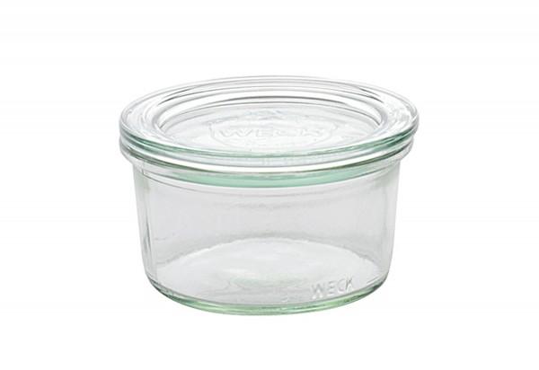 Rundrandglas Mini-Sturz 165 ml mit Deckel 80mm