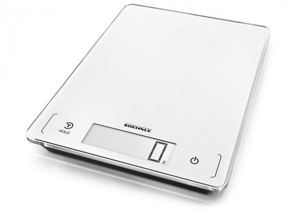 Küchenwaage Page Profi 300 digital 20kg Tragkraft 27x20x1,9 cm weiß