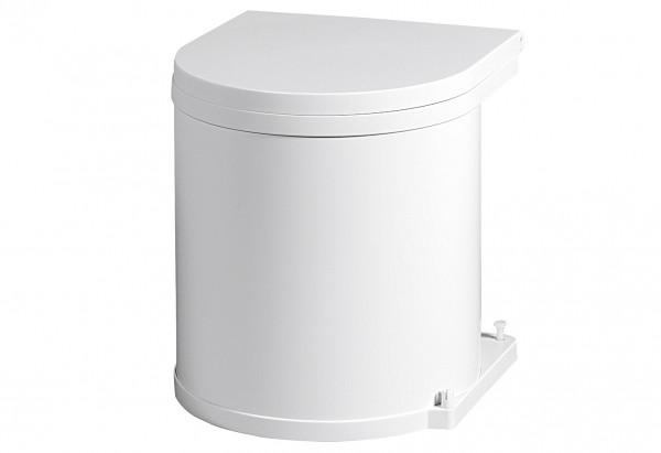 Einbau-Abfalleimer 11 l 30cm weiß