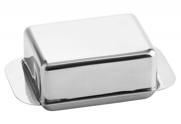 Butterdose für 125g Butter 12,5x7,5x4,5cm Edelstahl