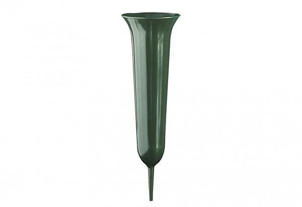 Grabvase Tulpe 37cm grün