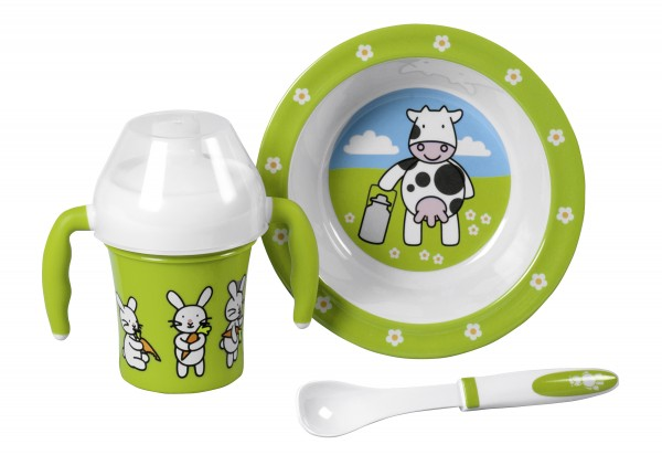 Kindergeschirr Farm Family Baby-Set 3teilig