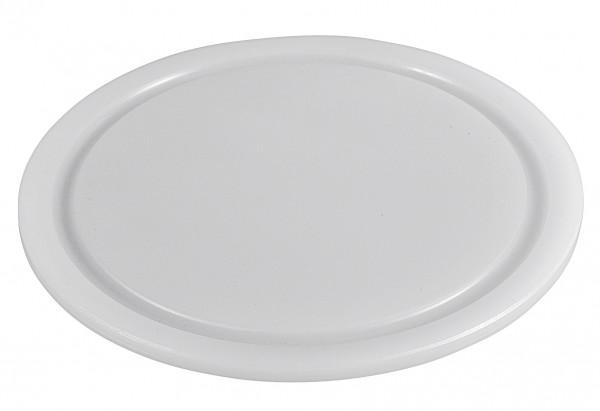 Schneidbrett Kunststoff mit Saftrille Ø25cm