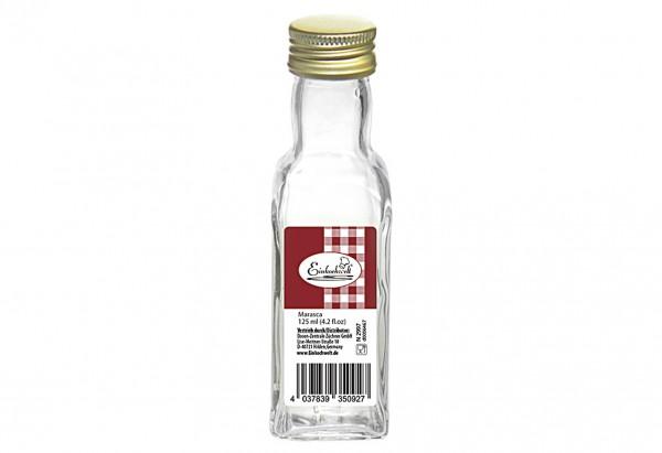 Gradhalsflasche Marasca Einkochwelt 125 ml mit 31,5mm PP-Verschluss
