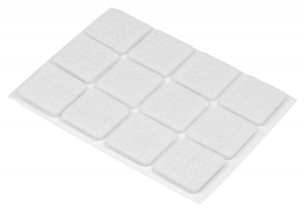 Filzgleiter quadratisch 12 Stück