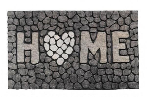 Gummiflockmatte Ecomat MP home 46x76cm stone grey