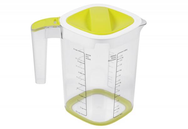 Messbecher Loft mit Zitronenpresse und Reibe 1,5l lime grün