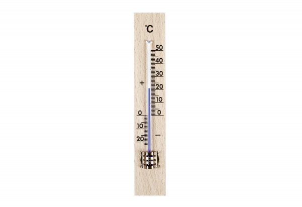 Zimmer-Thermometer Holz 15x2,6cm