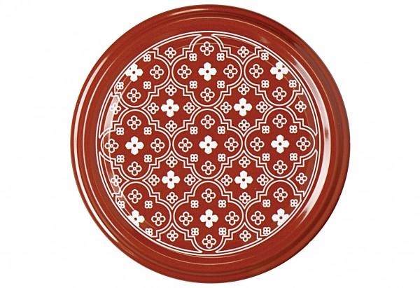 Twist-off Deckel sterilisationsfest Ø82mm rot/weiß Blumen 6er Beutel
