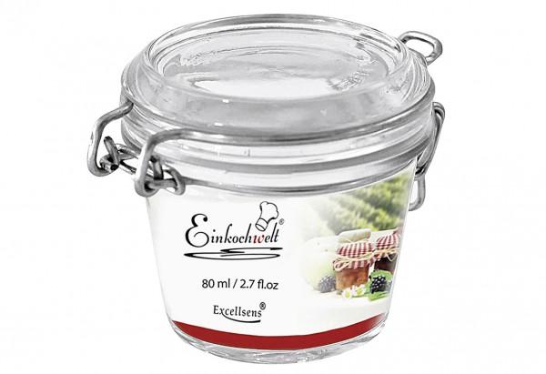Drahtbügelglas Einkochwelt Excellsens 80 ml
