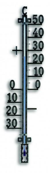 Innen/Außenthermometer Metall rostfrei 42cm