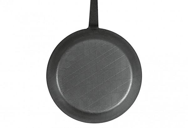 Bratpfanne schmiedeeisern mit Hakenstiel Ø24 cm, schwarz