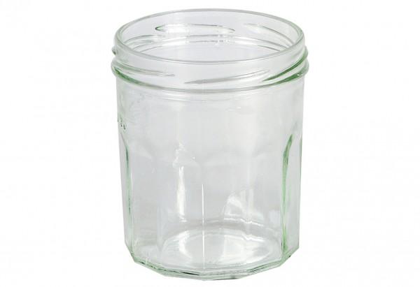 Schraubdeckelglas Facette 324 ml ohne Deckel 82mm TO