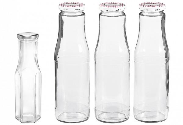 Saftflasche mit 53mm TO-Deckel 750 ml 3er Pack