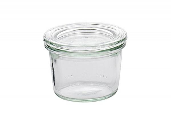 Rundrandglas Mini-Sturz 80 ml mit Deckel 60mm