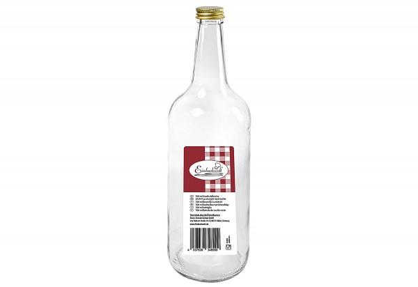 Gradhalsflasche Einkochwelt 700 ml mit 28mm PP-Verschluss