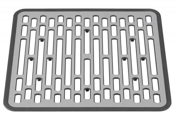 Spülbeckenmatte klein 31x29x1,3cm grau