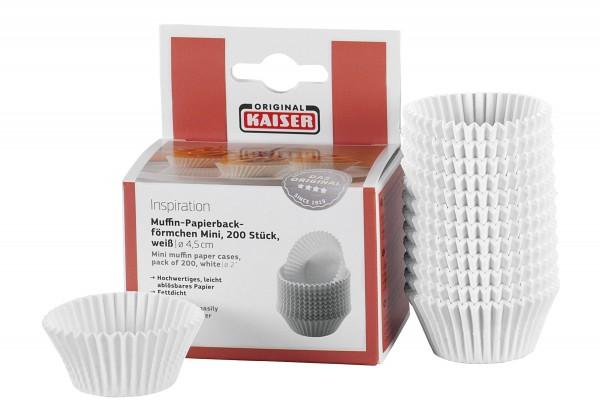 Mini-Muffin-Papierbackförmchen weiß 200St.