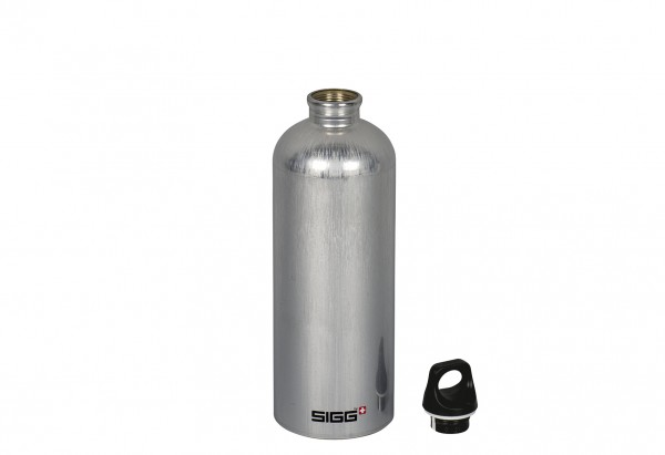 Trinkflasche Traveller 1 l grau