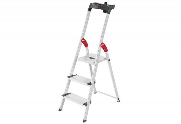 Alu-Sicherheits-Stehleiter ComfortLine L80 3Stufen