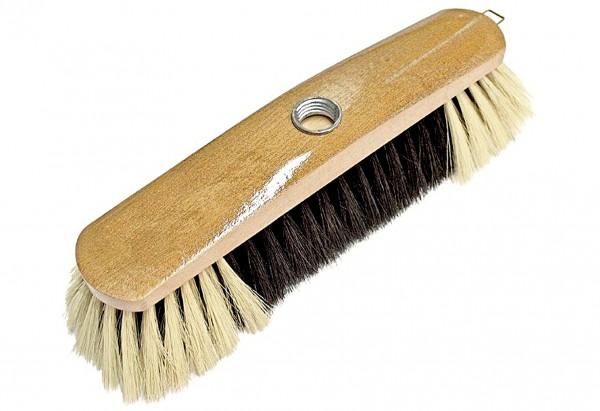 Zimmerbesen Buche nußgebeizt Haarmischung 28cm