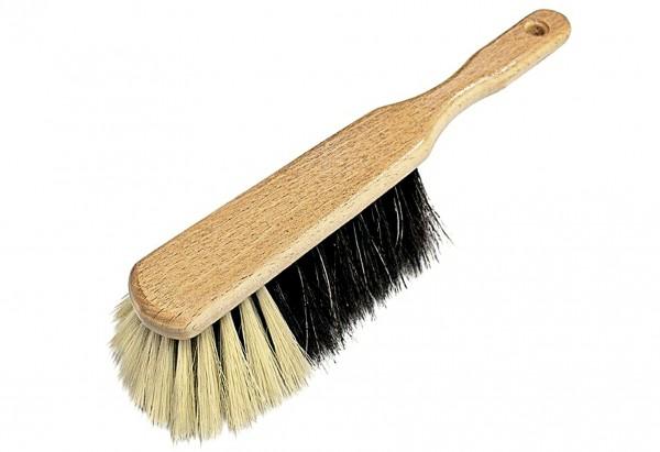 Handfeger Buche nußgebeizt Haarmischung 28cm
