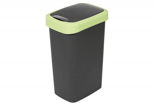 Mülleimer Flip mit Schwingdeckel 25l anthrazit/grün 32,5x25x47,5cm