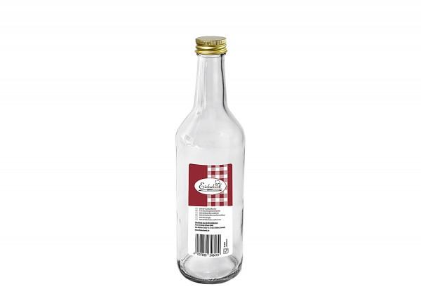 Gradhalsflasche Einkochwelt 500 ml mit 28mm PP-Verschluss