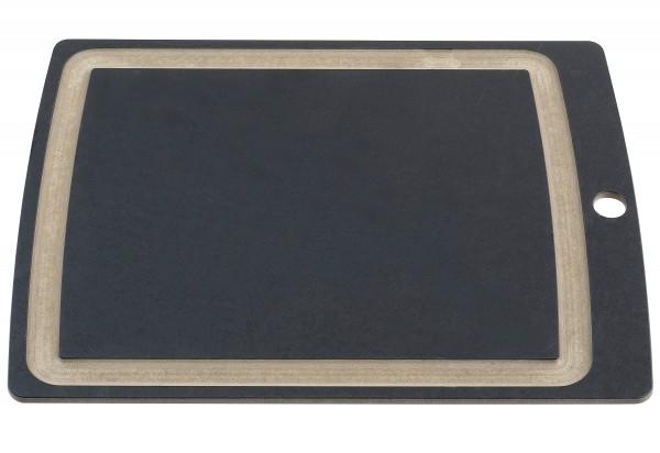Allrounder Schneidbrett gross, ,schwarz mit Saftrille, 368x285x7mm
