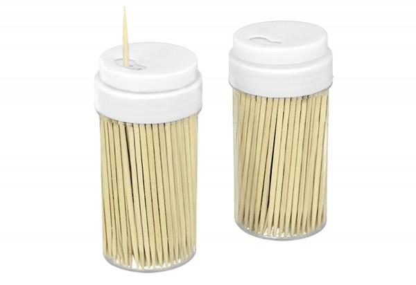 Zahnstocher in 2 Spenderdosen 2 x 100 Stück