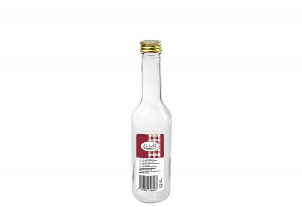 Gradhalsflasche Einkochwelt 350 ml mit 28mm PP-Verschluss gold