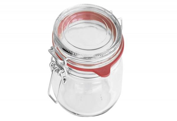 Drahtbügelglas Bocal 1140 ml mit Ring 65x90mm