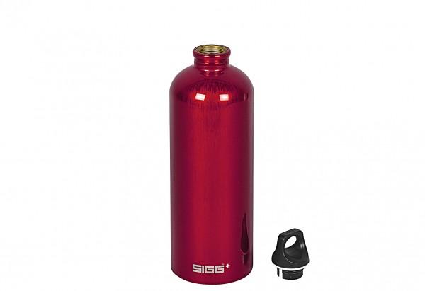 Trinkflasche Traveller 1 l rot