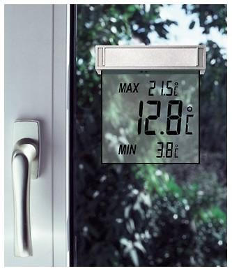 Fenster-Thermometer 10,5x2,3x9,7cm