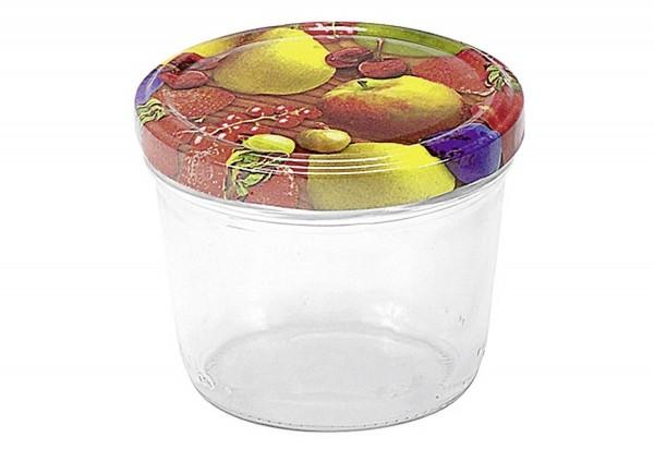 Schraubdeckelglas mit TO-Deckel, 6er Pack