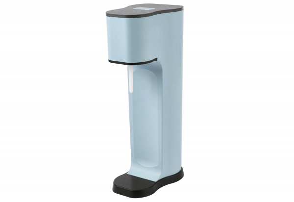 Wassersprudler Joy 1 PET-Flasche mit Silikon Shirt CO2-Zylinder blau