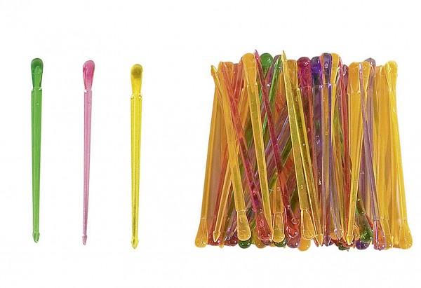 Kunststoff-Partypicker bunt 50Stück im Beutel